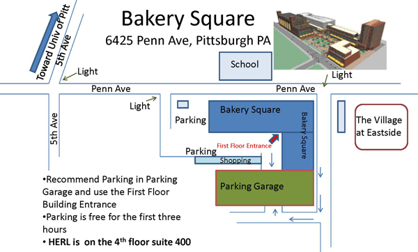 Bakery Square map