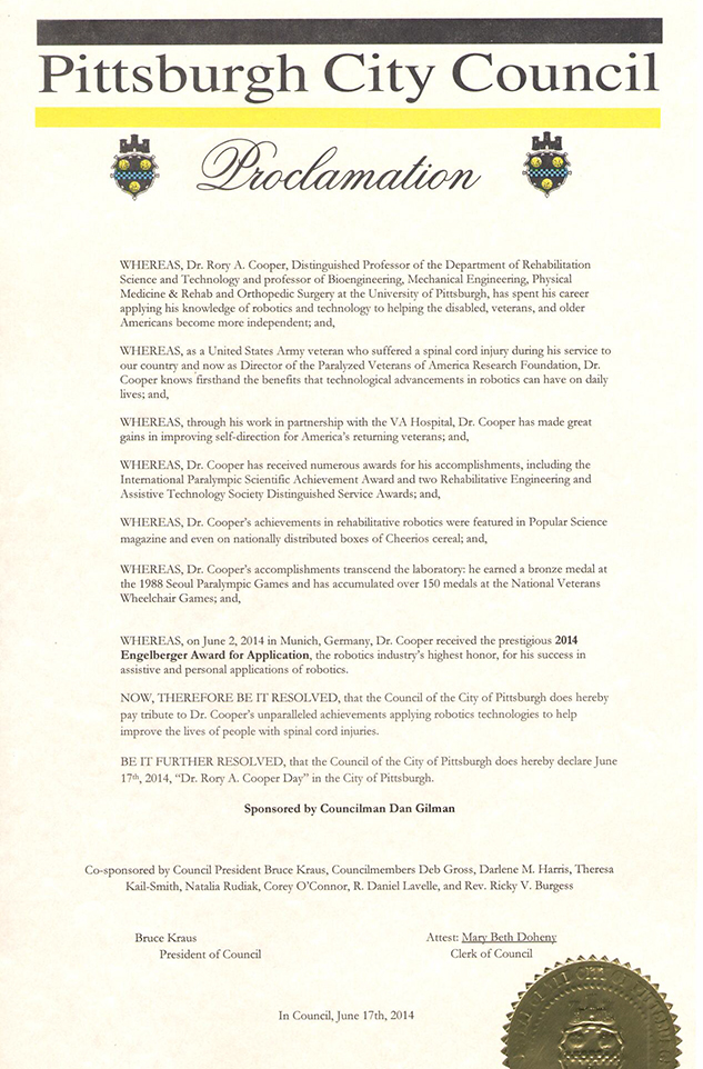 Cooper proclamation