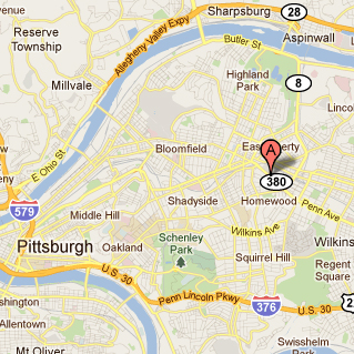 University Of Pittsburgh Map Maps and Directions | Human Engineering Research Laboratories