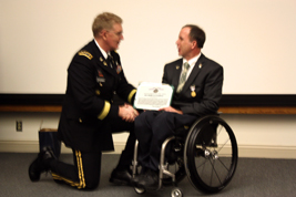Dr. Cooper receives award from LTG Schoomaker